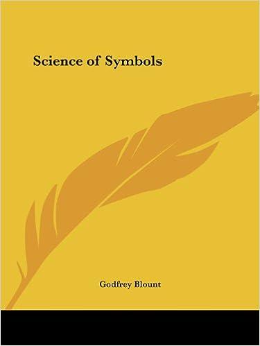 Science Of Symbols Godfrey Blount 9780766166516 Amazon Books