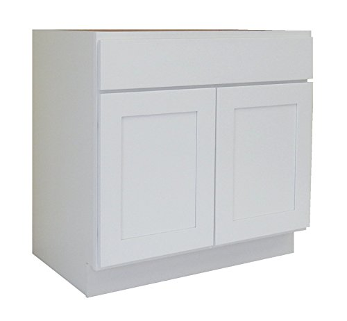 White Shaker Wood Vanity Cabinet (NGY WS-3021 Vanity Cabinet Maple Wood, 30