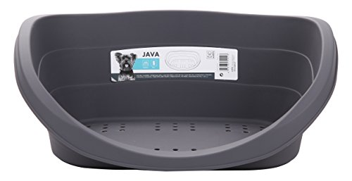 M-Pets Java Grey Dog Bed, 31-inch (Dog Plastic Bedding)