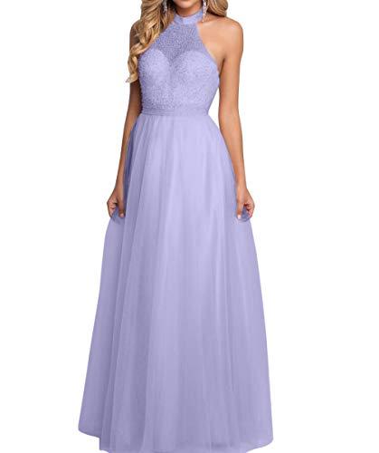 Tuell Abschlussballkleider Prinzess Lang Ballkleider Brau La Neckholder mia Lawender Romantisch Abendkleider Linie Partykleider A q0wtzA