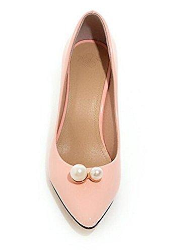 Talons Mince Metal Bouche 41 Pink Peau Pointue Court Chaussures Solid xie Couleur Femmes Chaussures Toe avec Hauts PtqXHX0x