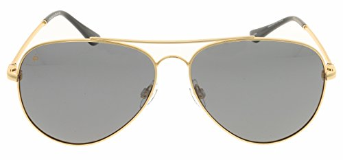 PRIVÉ REVAUX Places We Love Collection''The Cali'' Polarized Handcrafted Designer Aviator Sunglasses (Gold/Smoke) by PRIVÉ REVAUX (Image #7)
