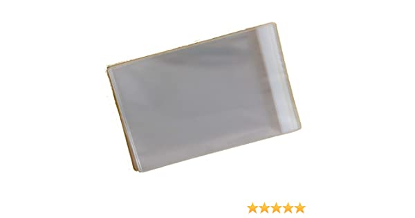 Pack of 250 - C6 - Cellophane Greeting Card Display Bags Self Seal - 120mm x 162mm