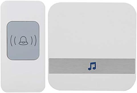 [해외]Wireless Doorbell Smart Stylish Digital Signal Transmission 52 Chords 4-level Volume Adjustable Low Power Consumption Elderly Pager Home Security Doorbell(1V1) / Wireless Doorbell Smart Stylish Digital Signal Transmission 52 Chords...