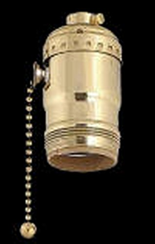 Upgradelights Uno Socket with Pull Chain and Swivel Down Bridge Lamp Part Light Part