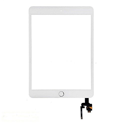 iPad Mini 3 A1599 A1600 Touch Screen Digitizer Complete Full Assembly W/ IC Chip Home Button (White) (Panel Lcd White)