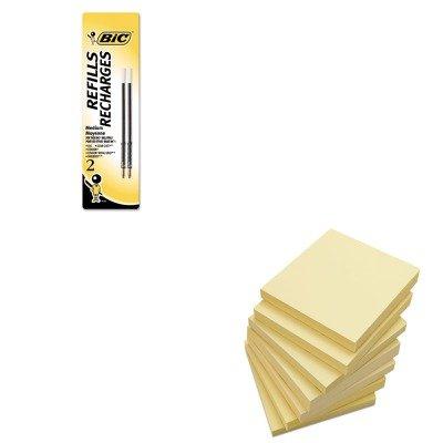 KITBICMRC21BKUNV35668 - Value Kit - BIC Refill for Velocity (BICMRC21BK) and Universal Standard Self-Stick Notes (UNV35668) (Notes Bic Sticky)