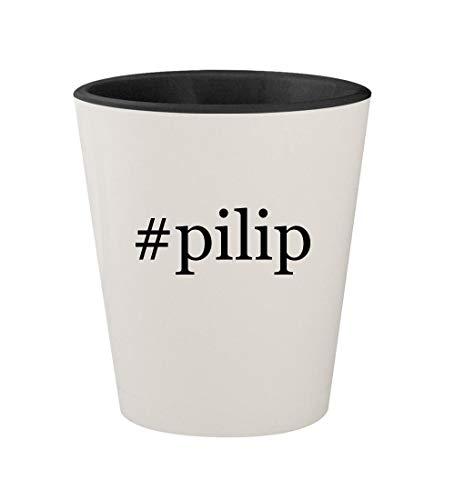 Price comparison product image #pilip - Ceramic Hashtag White Outer & Black Inner 1.5oz Shot Glass