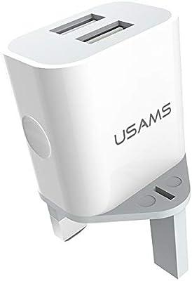 Amazon.com: USAMS Cargador estándar británico, adaptador de ...
