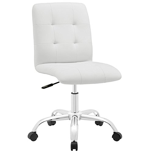Modway Prim Mid Back Office Chair, White
