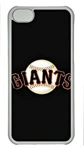 iPhone 5C Case, San Francisco Giants on Black Case for iPhone 5C PC Material Transparent