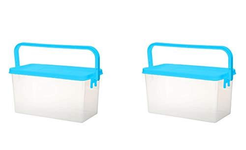 Gluman Plastic Container- 2 Pieces, Multicolor