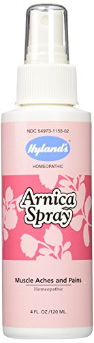 Spray Rub (Hyland's Arnica Spray, Natural Homeopathic Relief of Bruising, Muscle Aches, and Pains, 4 Ounces)