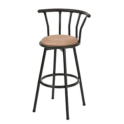Dorafair Vintage Style Industrial Bar Chairs 30 Inch Bar Stools