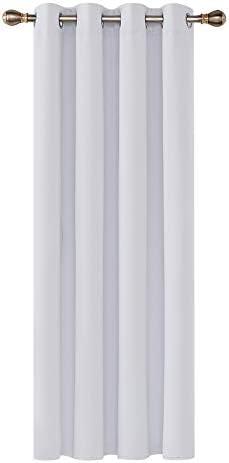 Deconovo Tenda Oscurante Termica Isolante con Occhielli per Camera da Letto 132×160 CM Grigio Perla Un Pannello