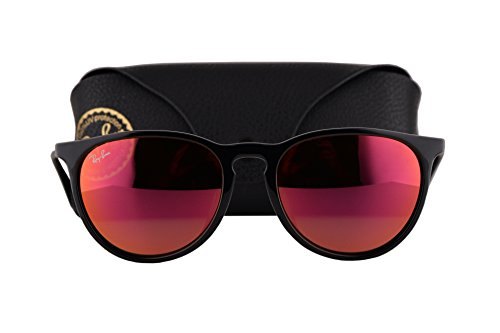 Ray Ban RB4171F Erika Sunglasses Black w/Red Mirror Flash Lens 6016Q RB - Ban Ray Sunglasses New Release
