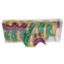 Jester Hat Mardi Gras Ornaments (12 PACK)