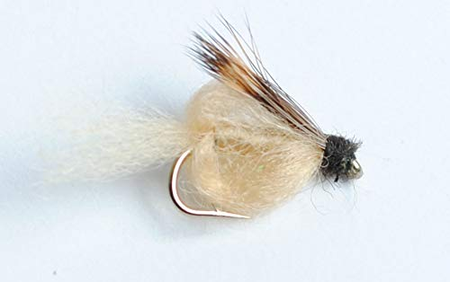 - Blue Wing Olive Sparkle Pupa Emerger Fly, 6-Pack (Tan, 18)