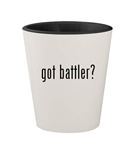 got battler? - Ceramic White Outer & Black Inner 1.5oz Shot Glass ()