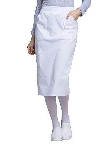 Cherokee WW Professionals WW510 30 inch Knit Waistband Skirt White M