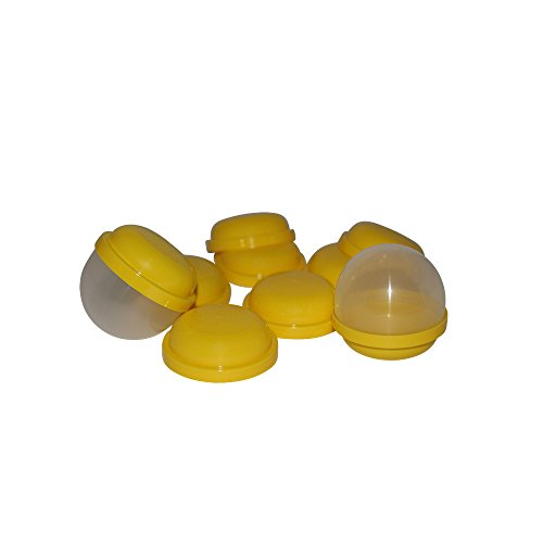 "2"" (Yellow) Plastic Vending Machine Capsules by Acorn Pods (30 qty). Perfect for DIY Craft Supplies, Kids Crafts, Emoji Party Favor Containers, Favor Bags & Favor Boxes, Candy & Stickers."