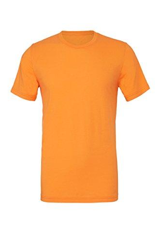 Unisex poly-baumwolle kurzarm t-shirt (BE119) - Neonorange, 30-32 / X-Small