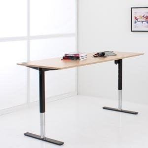 Eléctrico (escritorio ajustable con mesa 200 x 80 cm en haya ...
