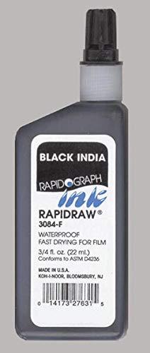 Koh-I-Noor Ultradraw Ink, 0.75 Ounce Bottle, Black  (3085F.BLA)