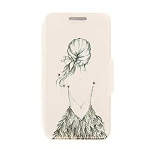 DDL Kinston Artistic Figure Diamond Paste Pattern PU Leather Full Body Case with Stand for iPhone 6 Plus