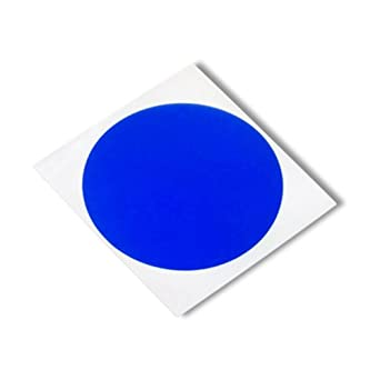 Pack of 500 3M 8905 CIRCLE-1.000-500 Pack of 500 1.000 length 1.000 width 3M 8905 CIRCLE-1.000-500 Blue Polyester//Silicone Adhesive Tape Circles 1.000 length 1.000 width 400 degrees F