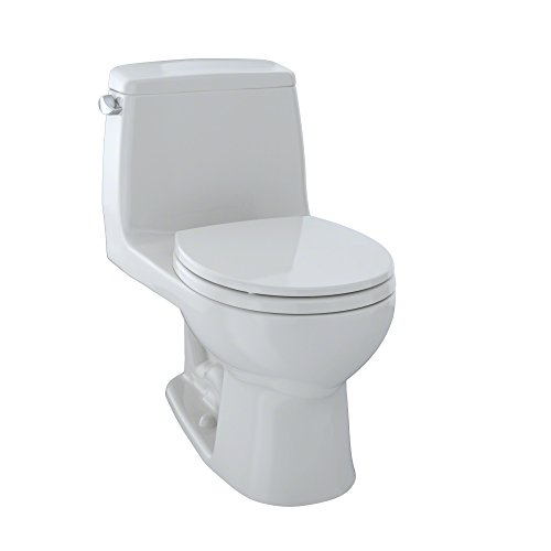 TOTO MS853113S#11 Ultramax Round One Piece Toilet, Colonial White