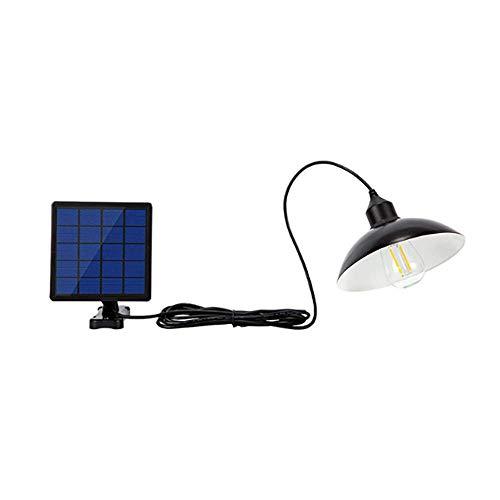 OurLeeme Luz solar para exteriores, Lámpara de suspensión LED retro e impermeable con pantalla Lámpara solar LED Lámpara…