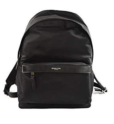 Michael Kors Mens Russel Black Signature Leather Backpack Bag
