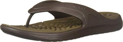 Crocs Reviva Flip Sandal, Espresso/Walnut, 6 US Women / 4 US Men M - Walnut Espresso