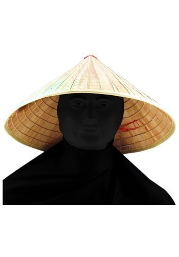 [Chinese Bamboo Coolie Hat] (Halloween Costumes For Asian Women)