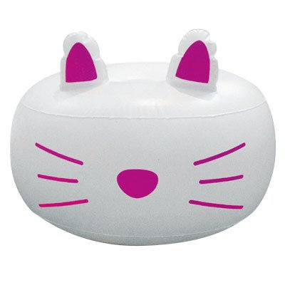 Room2Room White Cat Inflatable Ottoman