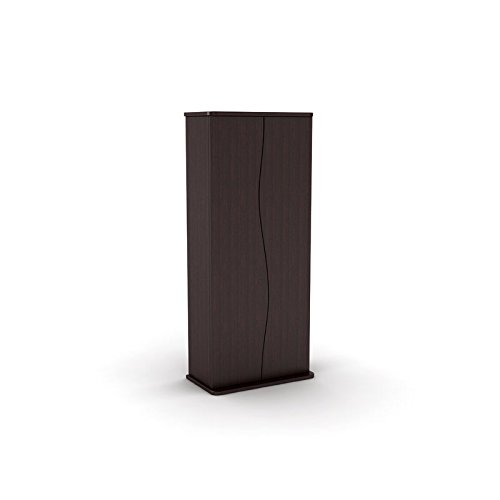 Multimedia Cabinet Storage Cd Dvd Tower Rack Shelf Media Organizer Stand Shelves Leslie Dame Movie Oak Wall New by HealthyLifeStyle52