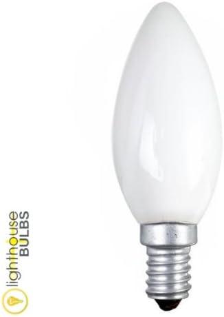 5x Opal Candle Bulb 60w SES (E14) Small Edison Screw: Amazon.co.uk ...