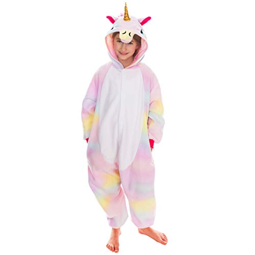 Spooktacular Creations Unisex Child Pajama Plush Onesie One Piece Unicorn Animal Costume (2-3 yr) ()