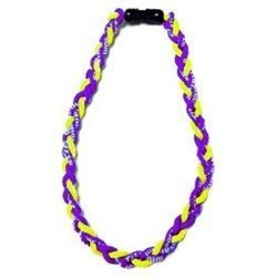 NEW! 18'' Kids Size Purple Yellow Tornado Necklace With Case by Extreme Sports by Extreme Sports