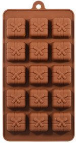 Okayji Silicone Bakeware Mould for Chocolate and Ice Cube 15 Cavity Small Gift Box