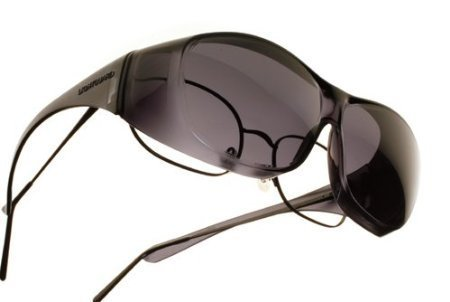 Lightguard Low Vision OveRx Sunglasses - Smoke Lens Size: Large, Fits over Prescription Glasses by MAGNIFYING - Online Prescription Sunglasses Sale