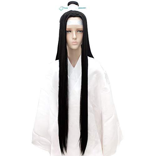 HSIU Lan Wangji Cosplay Wig Grandmaster of Demonic Cultivation Play Wig Mo Dao Zu Shi Halloween Ancient Wigs Hair. (Lan Wangji)]()