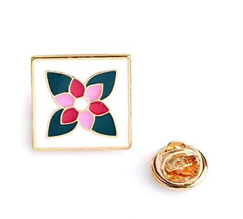 (JINGB Exquisite Vintage Brooch Square Brooch Button Badge(Colorful) Creative Lovely Badges)