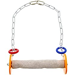 Sweet Feet and Beak Roll Swing and Perch for Birds, Keeps Nails and Beak in Top Condition and Stimulate Leg Muscles - Safe and Non-Toxic, for Cages