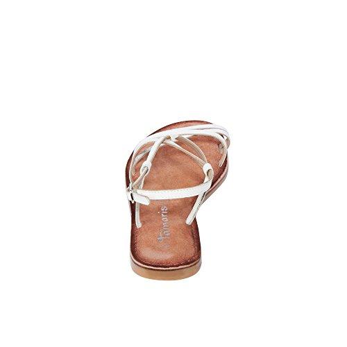 Tamaris Schuhe 1-1-28114-28 bequeme Damen Sandalette, Sandalen, Sommerschuhe für modebewusste Frau, Trend White