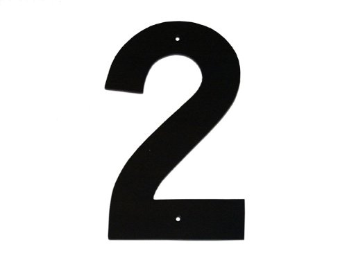 Montague Metal Products Helvetica Font Individual House Number, 2, (3 Inch House Number)