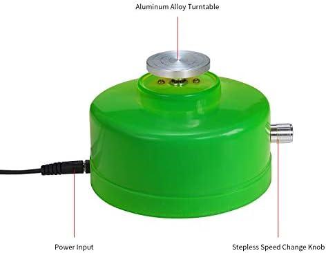nobrand USB-Mini-Keramik-Rad-Maschine 4.3cm Elektrische Drehscheibe Handgemachte Lehm Werfen Herstellung keramischer Machinel for keramische Arbeit Keramik (Color : Green)