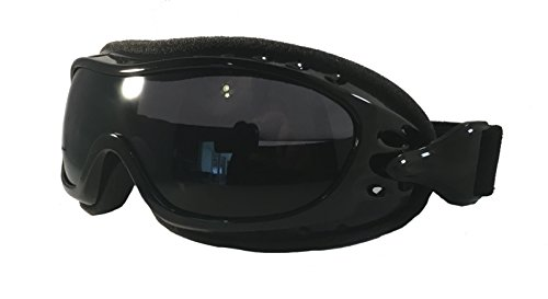 Fit Over Glasses Motorcycle Riding Goggles - Smoke Lens - Cycle Clear Model ZO1