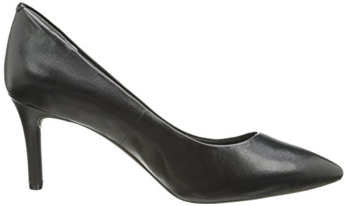 Rockport TOTAL MOTION 75MM Pointy Toe Bomba de vestido de la mujer Cuero negro